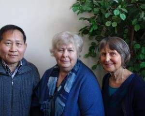 Refugee Support Group (Dunedin) members (from left) Dyna Seng, Anne Devereux and Barbara Johnston...