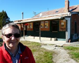 Former Lawrence Chinese Camp Charitable Trust chairwoman Adrienne Shaw stands outside the site's...