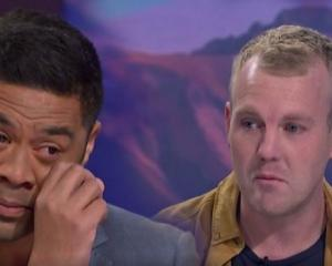 Daniel Faitaua shed tears as he said farewell to his Breakfast colleagues this morning. Photo: TVNZ