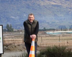 Three Parks developer Allan Dippie where State Highway 84 and Sir Tim Wallis Dr will meet. Photo:...