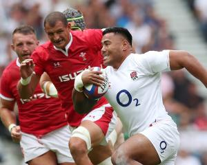 England's Manu Tuilagi in action against Wales.  Photo: Action Images via Reuters