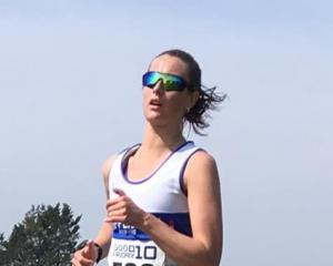 Dunedin Marathon entrant Georgia Wort (Chippenham Harriers) competes in a recent club event in...