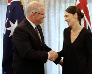 Jacinda Ardern with Australian Prime Minister Scott Morrison. Photo: Getty Images