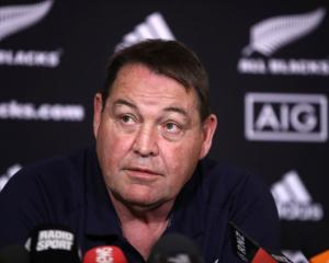 "Steve Hansen: ""Well, they're not playing, so you can say they've been dropped."" Photo: Getty"