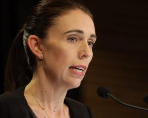 PM Jacinda Ardern at today's press conference. Photo: RNZ / Rebekah Parsons-King