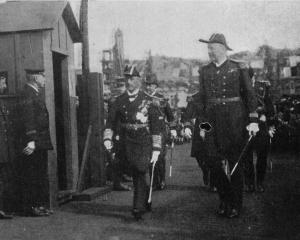 Admiral Jellicoe, who arrived in Wellington on HMS New Zealand, returning from an official visit...