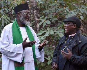 Nigerian conflict resolvers Imam Muhammad Ashafa (left) and Pastor James Wuye speak of growing...