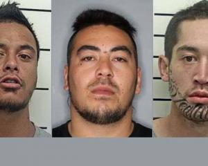 Offenders on the run: (From left) Wiremu Eparaima, 30, Te Wera Hemara, 27, and Emmanuel Witana,...