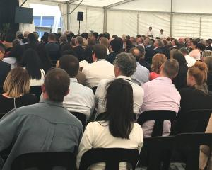 Mataura Valley Milk staff at the plant opening last year. PHOTO: SUPPLIED