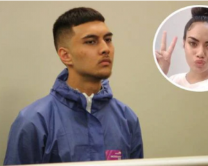 Micah Shannon Santos, pictured at his first appearance last November, stabbed Crystal Angel Tupou...