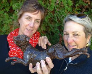 Queenstown Lakes District Council arts and events relationship manager Jan Maxwell (left) and...