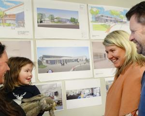 Potential new Te Kura O Take Karara school parent and pupil Tory and Casey (2) Robertson, of...