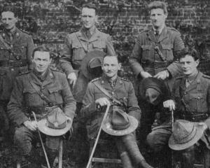 Some of the Presbyterian chaplains with the expeditionary forces. Back row (from left): Revs G. T...