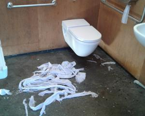 An example of vandalism at the Lake Hayes Estate public toilet. Photo: Queenstown Lakes District...