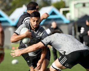 Rieko Ioane at All Blacks training. Photo: Getty Images