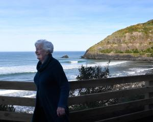 Mary Laws enjoys the newly reopened Second Beach track in St Clair, Dunedin, yesterday..PHOTO:...