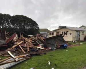 A twister ripped through the coastal Taranaki town of Awakino around 3pm. Photo: Deane Riddick...