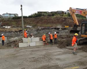 A week after the mudslide Marina Terrace apartment developers were given the go ahead to remove...