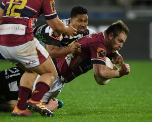 Southland skipper Brayden Mitchell is relishing his new role as a blindside flanker. PHOTO: GETTY...