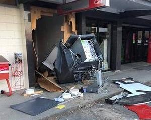 An ATM was ripped out of a wall at the Darfield post shop in Canterbury early on Sunday. Photo:...
