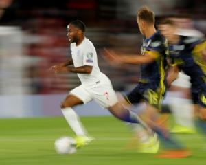 England's Raheem Sterling in action against Kosovo. Photo: Reuters