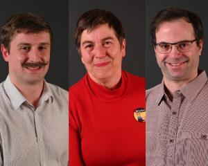 Mayoral candidates Finn Campbell, Rachel Elder & Malcolm Moncrief-Spittle. Photos: Craig Baxter