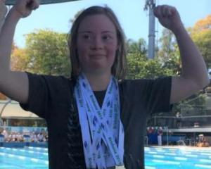 Charlotte Rozen won four medals at the Australian Down Syndrome swimming championships
