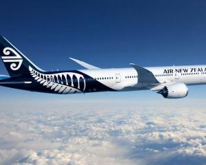 Air New Zealand plane. Photo: Supplied/Air NZ