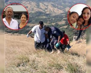 Fiji Police at the site where five bodies were found in the Nausori Highlands in Nadi, Western...