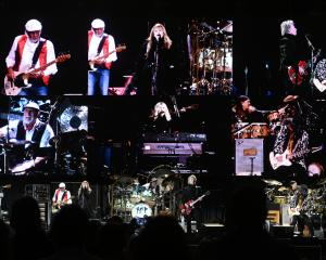 Fleetwood Mac entertains almost 30,000 fans at Forsyth Barr Stadium in Dunedin on Saturday night....