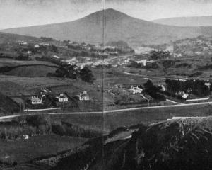 Panoramic view of Green Island from Lookout Point. - Otago Witness, 19.9.1919