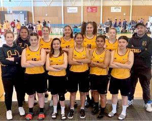 The Hornby High School girls' basketball team finished fourth at their South Island single A...
