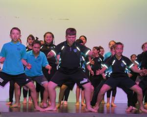 Tuahiwi School pupils perform a haka during the North Canterbury Kapa Haka Festival last week....