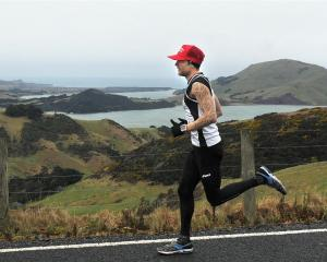 Ken McDonald, of Caversham, gets a nice view on the Peninsula Relay on Saturday. Photos by...