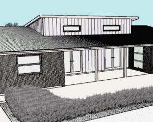 A concept design for Manuka Cottage's new headquarters, which will be built in Cornelius O'Connor...