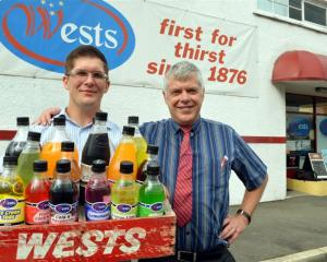 Marcus (left) and Alf Loretan outside Wests which has traded from the same site for 100 years....