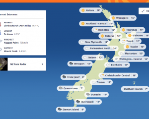 Hokitika and Greymouth have both been left off the draft new Metservice website. Photo: Metservice