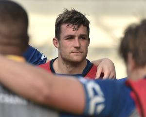Otago skipper Michael Collins at training at Forsyth Barr Stadium yesterday. PHOTO: GREGOR...