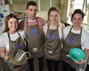 The My Flat Rules champions who cooked up a storm last month are (from left) Lena de Ronde, Drew...
