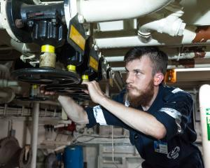 Waimate man Edmund Rooke on the job with Mercy Ships in the African nation of Senegal. PHOTO:...