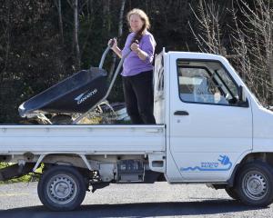 Electric truck driver Rachel Gibb, of Ravensbourne, Dunedin.