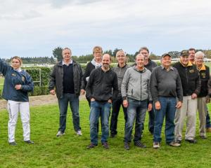 Members of the Setarip Syndicate, who will celebrate 50 years together at Ascot Park tomorrow...