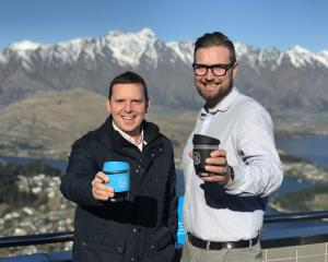 Skyline Queenstown's general manager Wayne Rose and operations manager Pierre Poyet with the...
