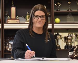 Stacey Wardell works at the Otago Softball Association yesterday, after being named Softball New...