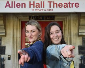 University of Otago theatre studies students Haley Vuleta (left, 19), of Wanaka, and Nicole...