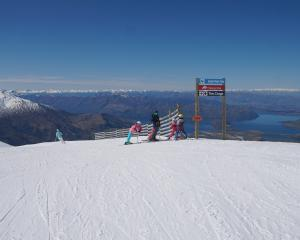 Perfect spring skiing conditions at Treble Cone just days before it closes for the season on...