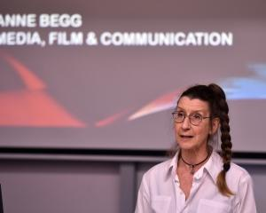 Anne Begg speaks at a Digital Expo at the University of Otago yesterday afternoon. PHOTO: GREGOR...