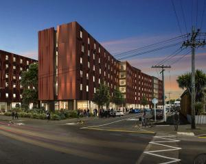 An artist's impression of University of Otago's planned new 450-bed residential college on the...