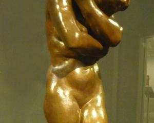The sculpture Eve cast from an original Rodin work.