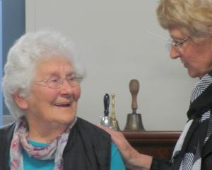 Rosa Bennett was surprised by Age Concern Ashburton patron Jeanette Storrier with a national...